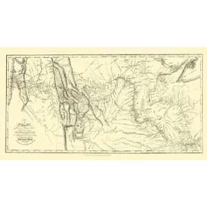 LEWIS AND CLARKS TRACK ACROSS NORTH AMERICA MAP 1804