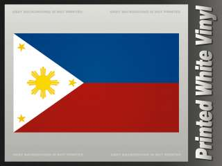 Philippines Flag Sticker PHL Filipino Asian Vinyl Bumper Decal F1