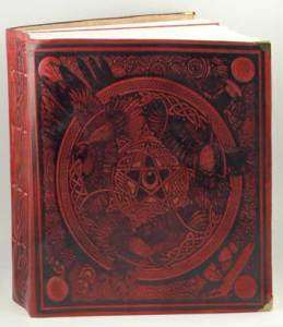Morrigan Book of Shadows Leather Blank Book of Shadows Ox Blood Red