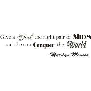 Marilyn Monroe wall decal Shoes Quote