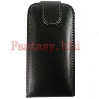 NEW LEATHER POUCH CASE COVER+ 3x protector FOR NOKIA C6