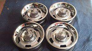 CHEVY RALLY WHEELS SET OF 4 GM 15X7 FW CODE REAL NICE