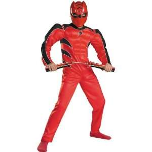 Boys Jungle Fury Red Ranger Muscle Costume   Power Rangers