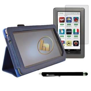 Blue Case Cover + 2x Screen Protectors + Stylus Pen for Nook Color