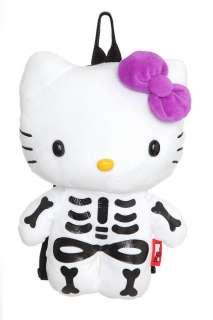 Hello Kitty Skeleton Plush Backpack