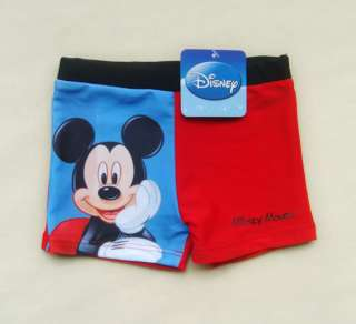 Boys Disney Mickey Mouse Swimsuit Swimwear Swim Trunks Shorts Size 2 4