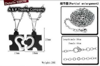 JN05 Stainless Steel Love Puzzle Lover Couples Necklace