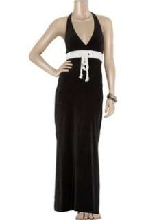 NWT JUICY COUTURE BLACK VELOUR MAXI DRESS WOMENS XS