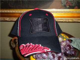 NWT Mens M/L MILLER High Life BEER black Ball Cap Hat