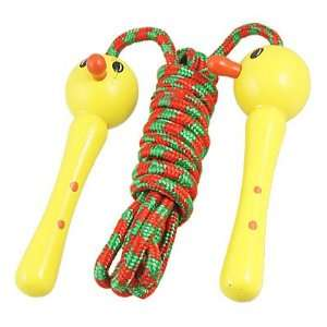 Como Yellow Duck Shaped Wooden Handle Red Green Skipping