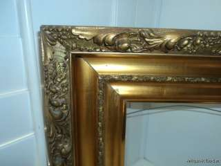 ANTIQUE Victorian Gesso & Gilt Irridescent Picture Frame 9 1/4 x 9 1/2