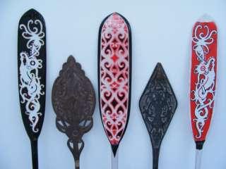 PADDLE Regatta Kayak Water Sport Carved Wood Aso Tribal Tattoo