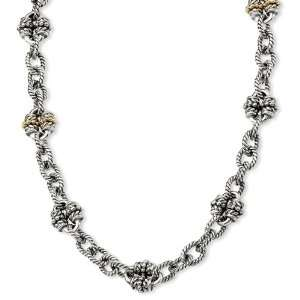 Sterling Silver w/14k Gold 18.5in Link Necklace Jewelry