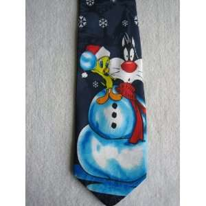 Looney Tunes Tweety and Sylvester Snowman Polyester