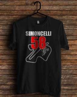 simoncelli moto gp honda motogp rip memorial sepang 1987 2011 t shirt