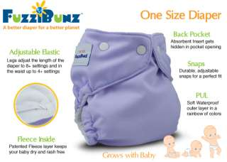 fuzzibunz one size sizing guide recommended number settings for leg