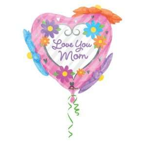 Love You Mom Floral Outsiders Super Shape Balloon (1 ct) Toys & Games