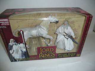 WHITE and SHADOWFAX Deluxe Horse and Rider Action Figure Set