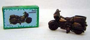 Vintage Die Cast metal Mini Motorcycle pencil Sharpener Marley the