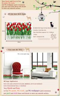 SS58246 TULIP Wall Art Deco Decor Decals Mural Sticker