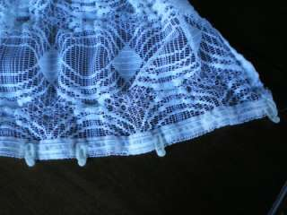 German Germany Sheer Lace Curtain Panel Drapes & Rod Hooks