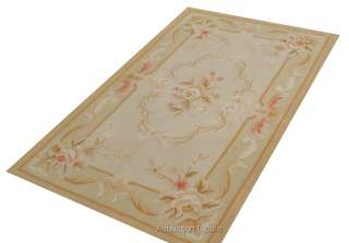 COUNTRY FRENCH PASTEL Aubusson Area Rug FREE SHIP Wool Handmade NOT