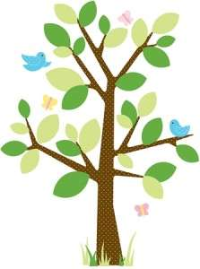 New Baby Nursery Tree Mural Wall Decals Giant Stickers 034878874661