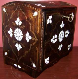 15 Handmade Turkish Mother Of Pearl Decorated Wood Jewelry Box |
