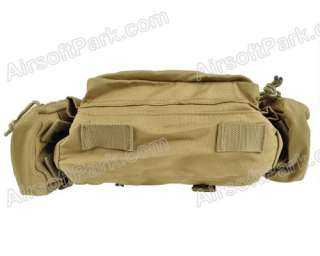 1000D Molle Tactical Utility Waist Hand Bag Pouch Tan