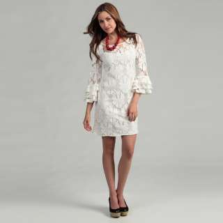 Jessica Howard Womens Cream Lace Dress  Overstock