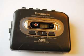 Panasonic RQ E15V FM /AM RADIO Cassette Player Walkman