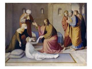 Raising of Jairus Daughter Giclee Print by Friedrich Overbeck at