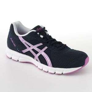ASICS Rush 33 Womens High Performance Running Shoes Navy Pink