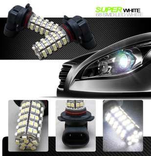 2PCS 9005/HB3 68 SMD 3528 LED CAR FOG LIGHTS BULB WHITE