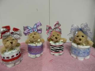 Mini diaper cake, baby shower centerpiece/decoration for boy or girl