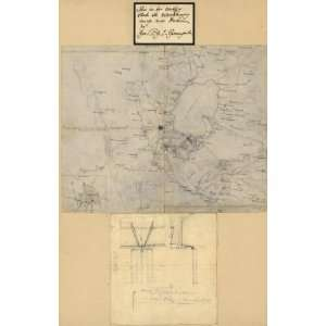 1847 map of Mexico City Region (Mexico)