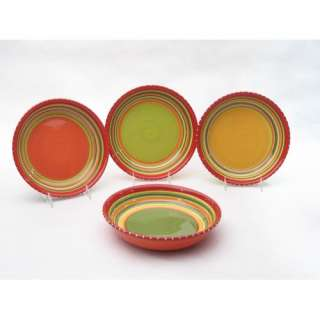 Certified International Hot Tamale Soup and Pasta Bowls (Set of 4)