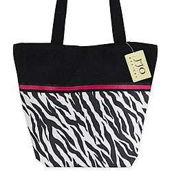 JoJo Designs Zebra Print and Hot Pink Tote Bag