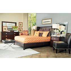 angeloHOME Marlowe Queen size Bonded Leather Shelter Bed