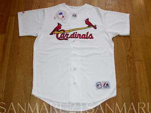 MLB St.Louis Cardinals Majestic jersey 2XL white NEW