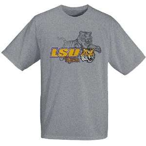 LSU Tigers Ash Mascot Backdrop T shirt:  Sports & Outdoors