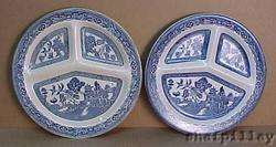 Antique Staffordshire Blue Willow Dinner Plates ROMARCO