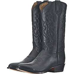 Lane Mens Black Deer Cowboy Boots