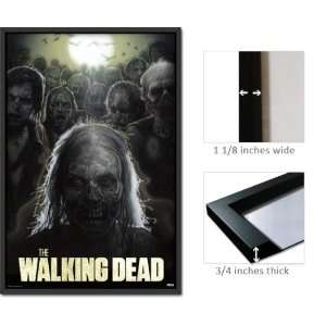 Framed Walking Dead Poster Zombies PAS0206: Home & Kitchen