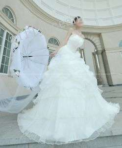 2011 new * long trail * wedding bridal dress bride gown
