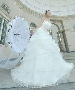 2011 new * long trail * wedding bridal dress bride gown