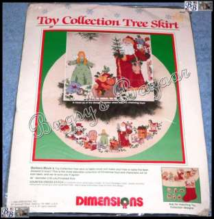 TOY COLLECTION TREE SKIRT Christmas Counted Cross Stitch Kit   B. Moc
