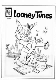 LOONEY TUNES #242, Bugs Bunny, scarce Dell cover art