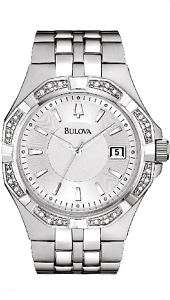 New! Bulova Mens Diamond Watch 96E106