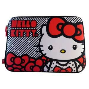 Soft and Durable Striped Hello Kitty Laptop Cover